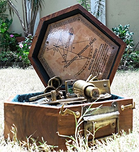 7 Inch Antiques Marine Captain Sextant – Brass Nautical Sextant. C-3135 by MARINE ART HANDICRAFTS