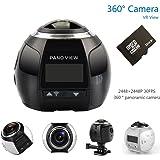 OTHA 360 Videocamera 2448 * 2448 4K Ultra HD 360 Sport Macchine Fotografiche WIFI VR Macchina Fotografica Impermeabile, Nero