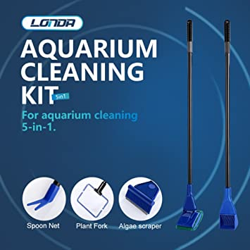 Kit de limpieza de acuario, Kit de Esponja para Limpiar el depósito mediano: Amazon.es: Jardín
