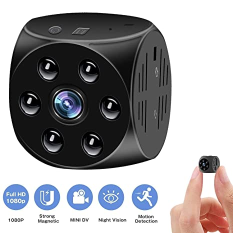 Indoor Spy Covert Security Camera GXSLKWL HD 1080P Hidden Spy Camera with Night Vision Portable Small Nanny Cam with Motion Detection Color : +128G Memory Card