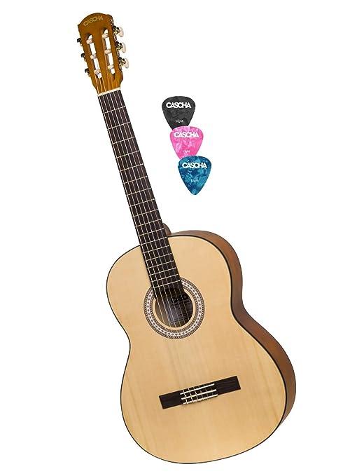 CASCHA Student Series 4/4 Guitarra clásica, guitarra clásica para ...