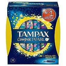 Tampax Compak Pearl Regular Tampons 18 per pack (PACK OF 2)