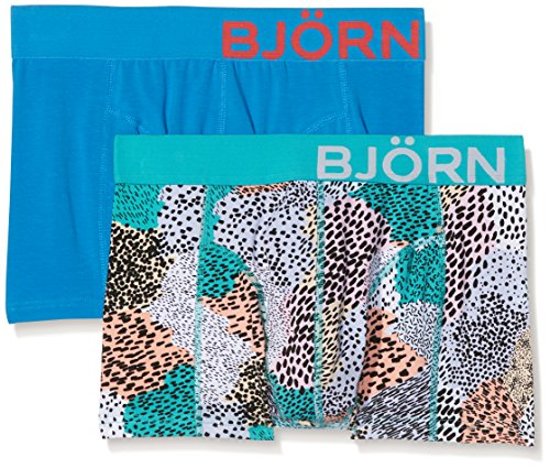 - Bjorn Borg Men's 2p Shorts Bb Painted Animal, Aruba Blue, X-Large
