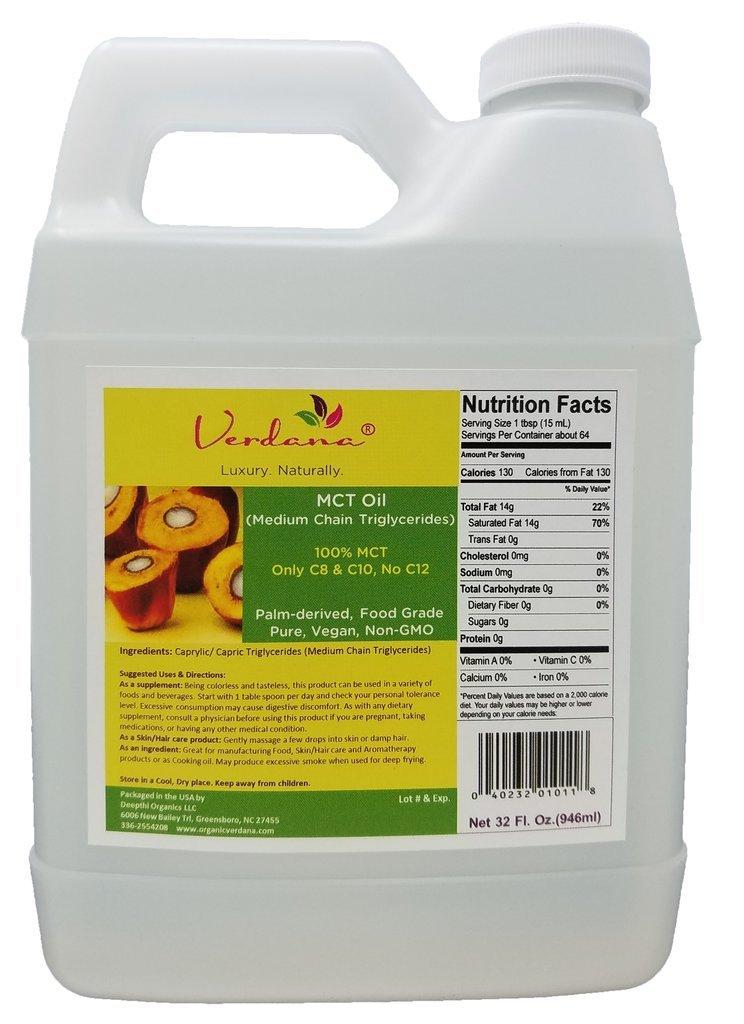 Organic Verdana Food Grade MCT Oil, 32 fl oz