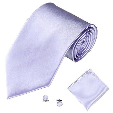 Modaworld - Conjunto de Corbata, pañuelo de Bolsillo y Gemelos de ...