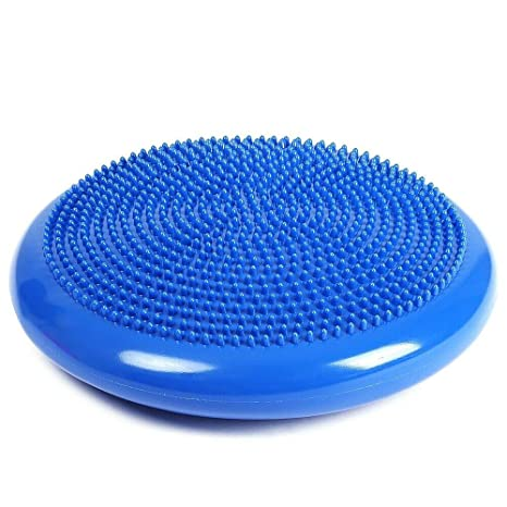 Inflated Stability Wobble Cushion with Pump Thick Flexible Seating Balance Disc