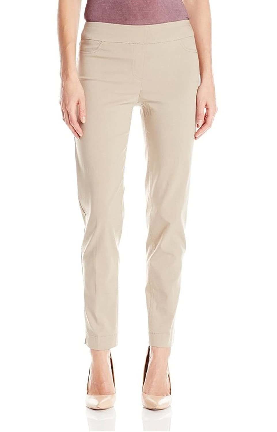Multiples Women's Stone Pull On Solid Ankle Pants