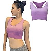 LANSHO Sports Bra for Women Medium Support Yoga Gym Activewear Bras