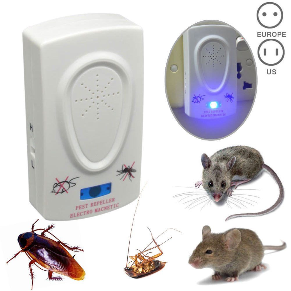 Ultrasonic Pest Repeller Electronic Mouse Repellent Mosquito Mice Spider Roaches Insect Control ASOSMOS