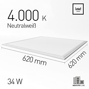 LED Panel Basic 62| 620 X 620 Mm 34W| 3200lm| Incl. Befestigung