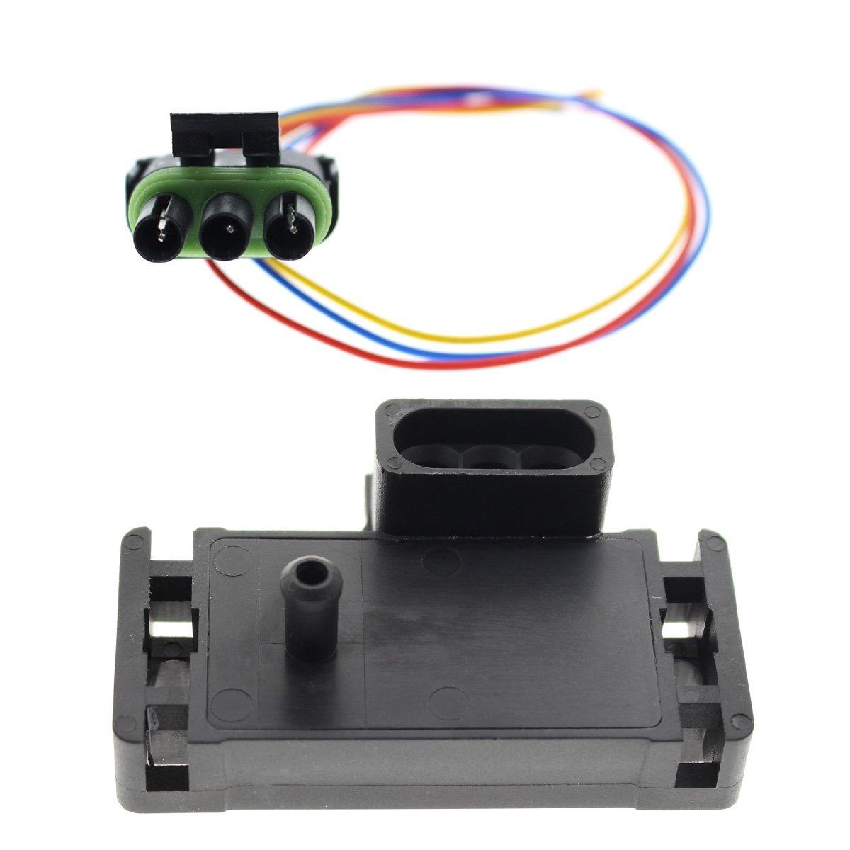 GooDeal 3BAR 3 BAR MAP Sensor 12223861 for Electromotive Motec Megasquirt with Plug