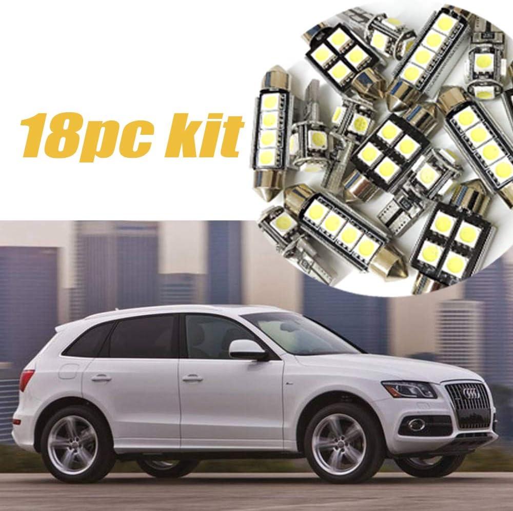 18Pc 2009-2012 Audi Q5 CANbus Error Free Car Interior LED Super White Light Kit