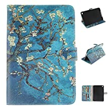 iPad mini4 Case, Showing Totem Series PU Leather Outer Shell + Soft TPU Inner Shell Protective Case for 7.9 Inches Apple iPad mini 4 Tablet Case (Apricot Tree)