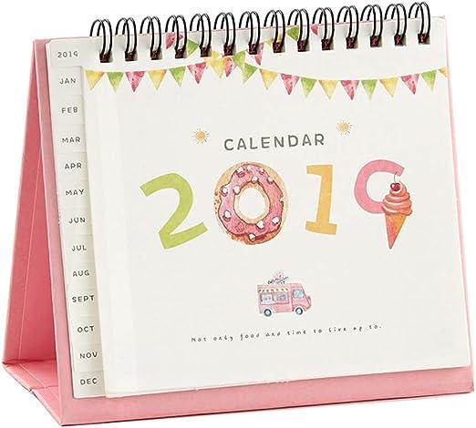 HUACANG Calendario De Escritorio De Oficina 2019, Varios Patrones ...