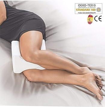AIMO Spain Almohada cojín piernas ortopédico de Rodilla KP-001, Facilita el Dormir de Lado, Alivia Dolores de Espalda y Caderas