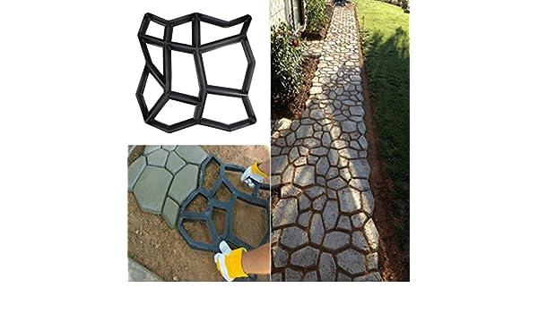 TianranRT Molde Reutilizable para Hacer Caminos, diseño de Cemento de hormigón: Amazon.es: Hogar
