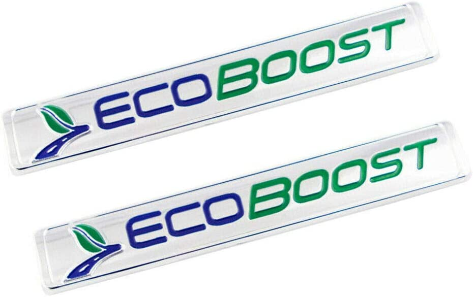 2Pack ECOBOOST Front Door Emblem 3D Badge Compatible For F-150 Blue Green