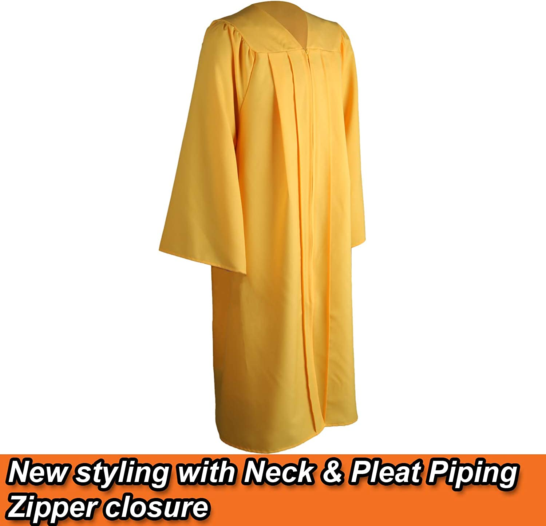OSBO GradSeason Matte Graduation Gown Cap Tassel Set 2020 for High School and Bachelor
