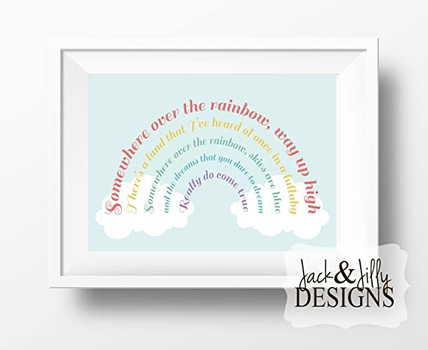 Amazoncom Somewhere Over The Rainbow Art Print Wizard Of Oz