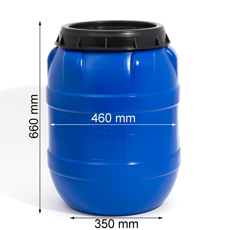60 Liter Fass Tonne Wasserfass Regenwasserfass Spundfass Kunststoff NEU natur