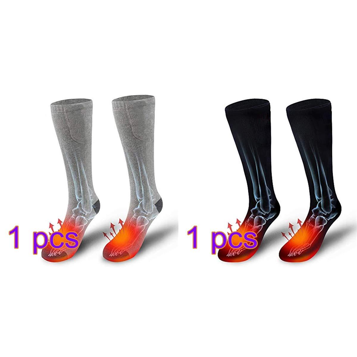 QINGFA Heated Socks,Winter Upgrade Heating Socks USB Rechargeable Battery Electric Heating Socks Three-Level Thermostat Sports Outdoor Novelty Warm Heating Sock,Climbing Skiing Foot Heater Warmer