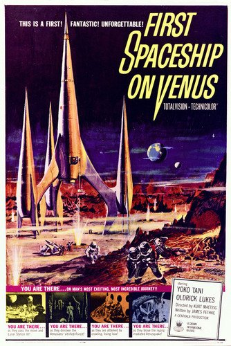 Yoko Tani in First Spaceship on Venus amazing artwork 24x36 Poster by Silverscreen