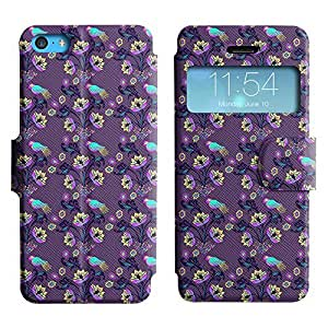 Be-Star Colorful Printed Design Slim PU Leather View Window Stand Flip Cover Case For Apple iPhone 5c ( Flowers And Birds ) Kimberly Kurzendoerfer