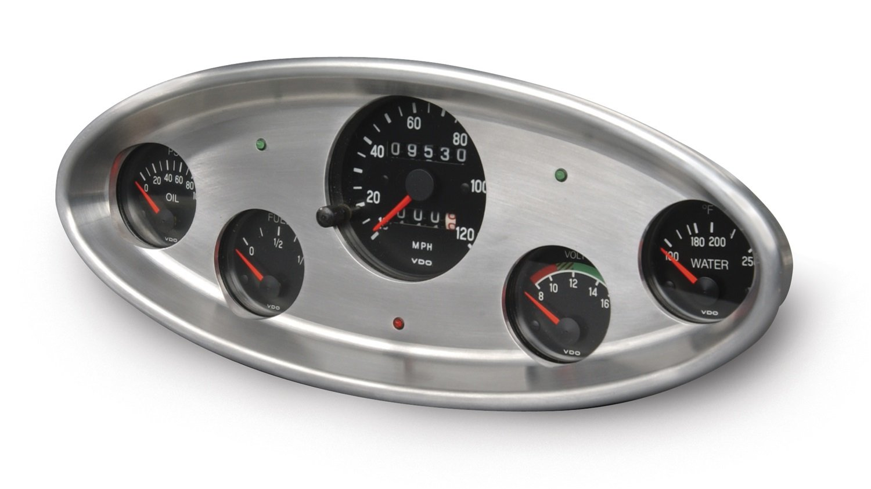 Lokar BDI-9103 3-1//8 5 Gauge Brushed VDO//Auto Meter Dash Insert for Ford