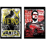 "Batman Vs. Superman: Dawn Of Justice - Propaganda Movie Poster / Print Set (Hero / False God) (Size: 24"" x 36"")"