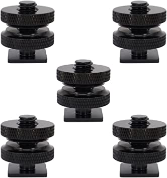 "5Pcs 1//4/"" Hot Cold Shoe Mount Tornillo Para Trípode Para Flash Adaptador de zapata para DSLR"