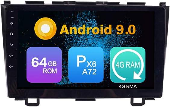 Android 10 4G Ram 64G ROM PX6 Cortex A72 GPS Navegación Radio Control del Volante IPS DSP WiFi Bluetooth porHonda CRV 200-2011: Amazon.es: Electrónica