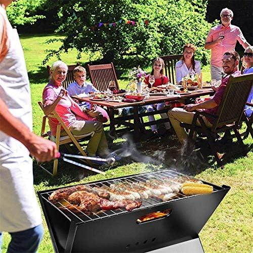 ZXL Barbecue Grill, Portable Barbecue Grill X Forme Multifonctionnel Pliant Charbon De Bois Barbecue Mini Barbecue Grill Rack pour Table Camping en Plein Air Jardin