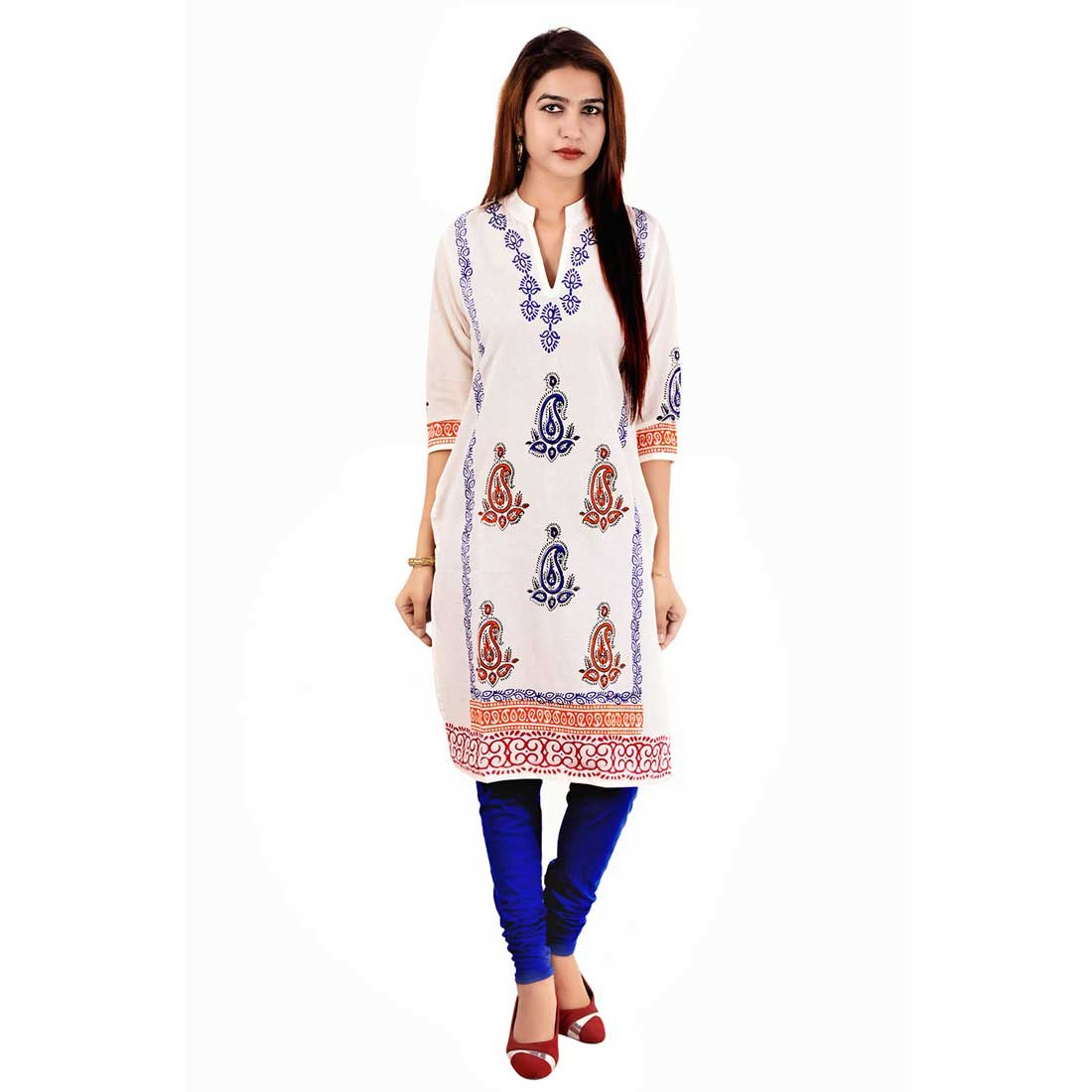 Jaipuri Block Printed Designer Cotton Kurti Indian Handicrafts Export