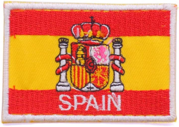 parche bandera espana parches para ropa parches termoadhesivos parches bordados 7,5 cm: Amazon.es: Hogar