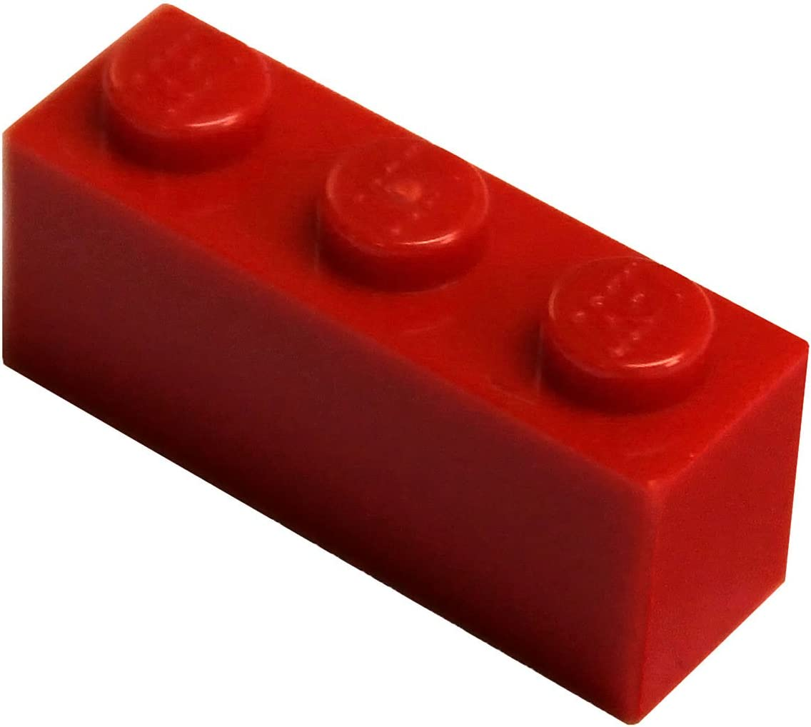 LEGO Parts and Pieces: Red (Bright Red) 1x3 Brick x50