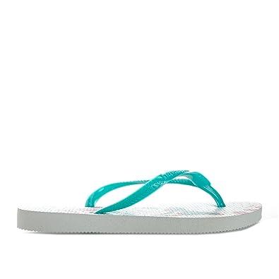a7a62aebf Havaianas Girl s Slim Tinkerbell Flip Flops US12-13 White  Amazon.co ...