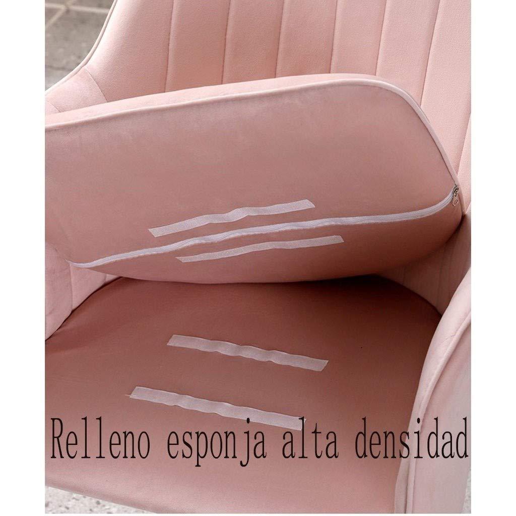 HEJINXL Matstol köksstol mjuk sammet oberoende dyna galvaniserad titan halkfria fötter roterbar applicera på vardagsrum sovrum kontor fåtölj set med 2 st (färg: B) F