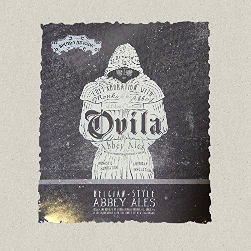 Sierra Nevada Brewing Co. - Ovila Abbey Ales Metal Sign/Tacker - 10