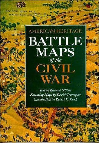 battle maps of the civil war american heritage robert k krick david greenspan richard oshea 9780933031715 amazoncom books