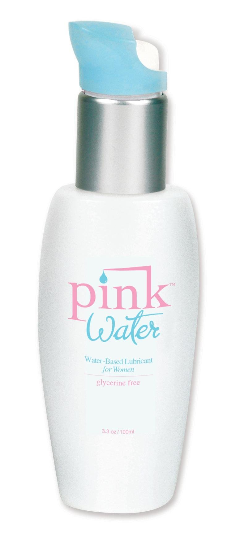 Pink Water, Water-Based Lubricant for Women, with Aloe Vera, Glycerin & Paraben Free, 3.3 Fl Oz (100 Ml)