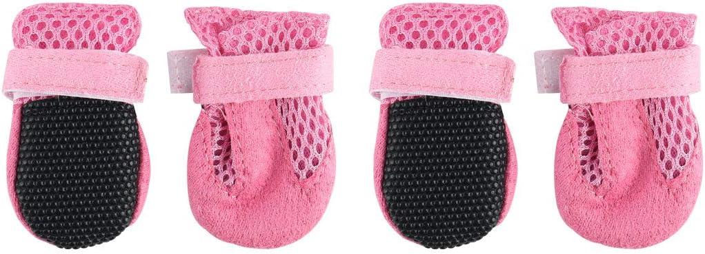 Ligeras Resistentes al Desgaste Transpirables c/ómodas Sourcingmap Senderismo Zapatos Protectores de Patas para Perros al Aire Libre Correr Botas para Mascotas