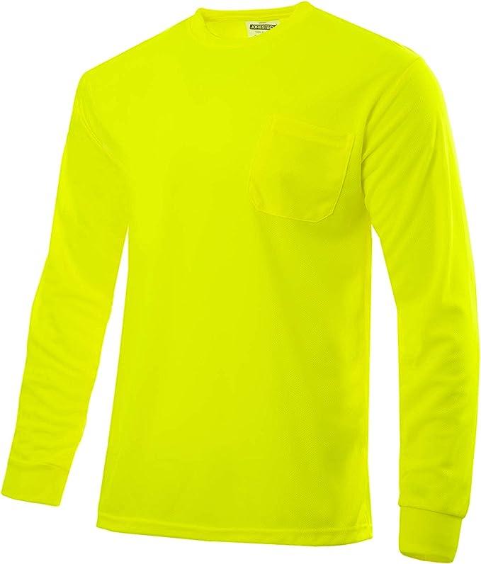 6 Gildan Workwear Men/'s Pocket T-Shirts Medium High Vis Green! Lot of 3 2 pack