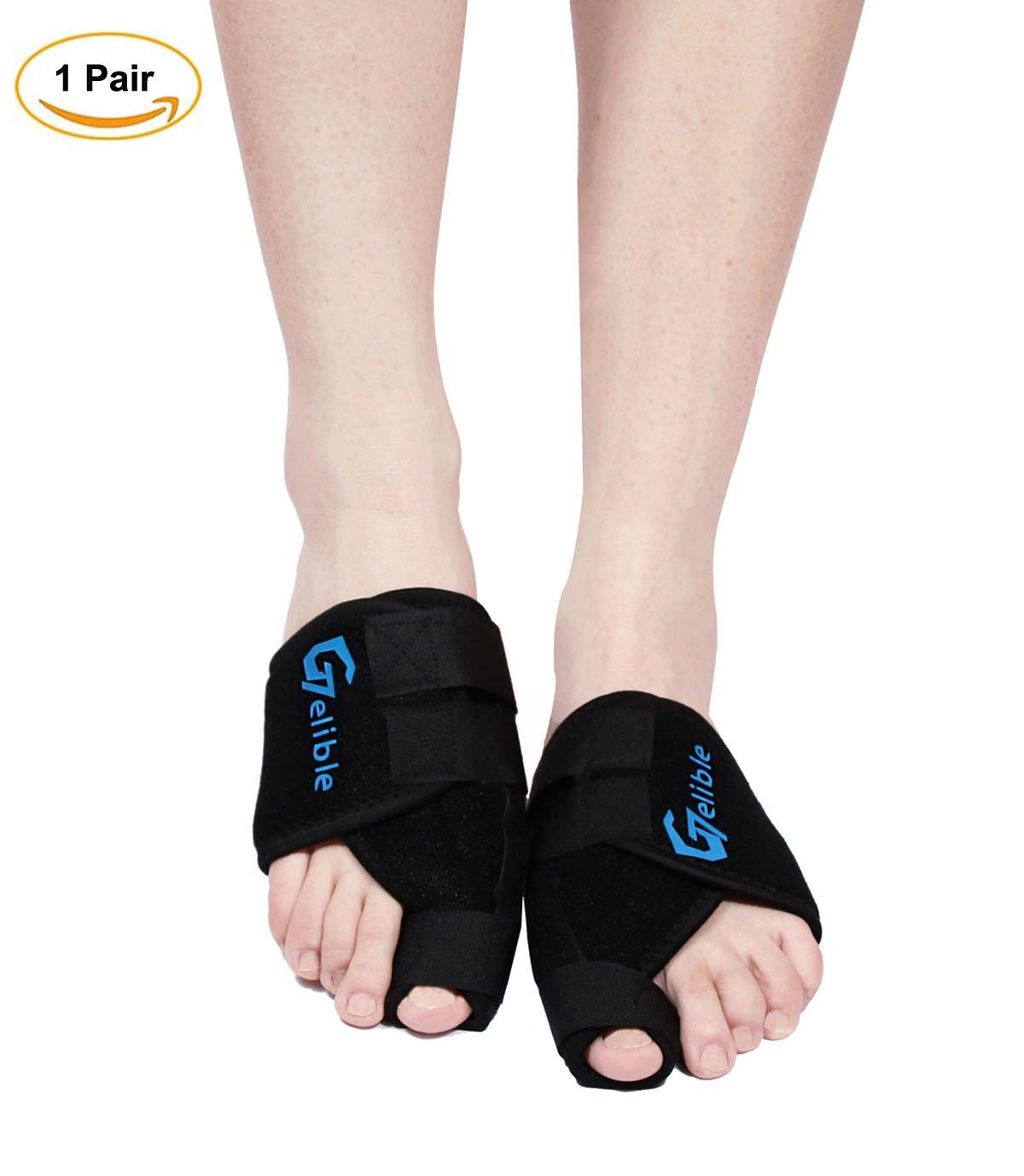 Bunion Toe Corrector,Gelible 1 Pair Toe Straightener Splints for Hallux Valgus, Overlapping Toe, Turf Toe, Bunion Pain Aid Surgery