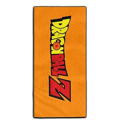 yaieia Dragon Ball Z Logo poliéster terciopelo toallas de mano de baño