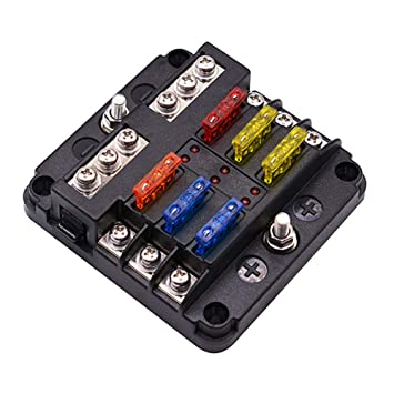 amazon com ywillink 6 way utv blades fuse box block cover  linkstyle 10 way blade fuse box holder