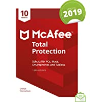 McAfee Total Protection 2019 | 10 Geräte | 1 Jahr | PC/Mac/Smartphone/Tablet | Aktivierungscode per Post