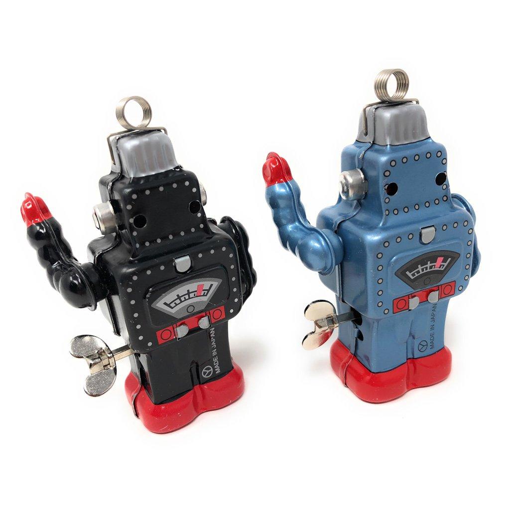 Burekiya Vintage Retro Tin Wind-up Toy - Two Sparkling Robot Set by Burekiya (Image #5)