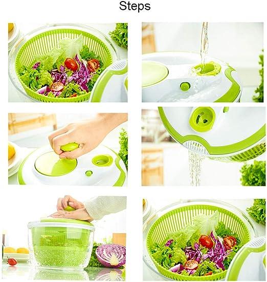 Salatschleuder Salatschleuder K/üchenwerkzeug WLKK Gem/üsetrockner n/ützliche K/üchenger/äte Obstkorb