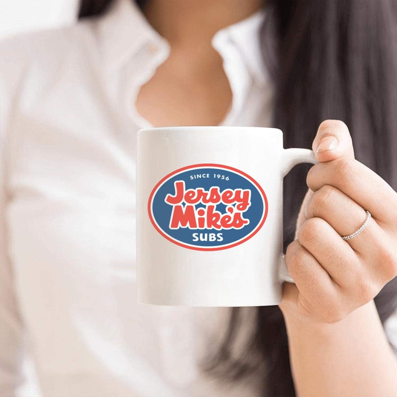 White Ceramic Mug Jersey-Mikes-Subs Coffee Mugs 330ML//11.2oz