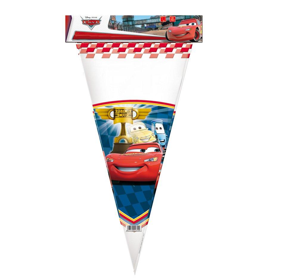 Cars - 10 bolsas cono gigante, 30X60 cm (Verbetena 014000624)